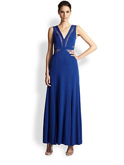 BCBGMAXAZRIA - Sophee Lace-Paneled Gown