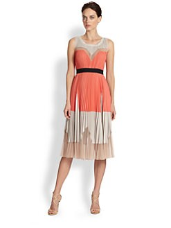 BCBGMAXAZRIA - Lucea Sunburst Pleat Dress