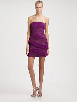 BCBGMAXAZRIA - Jorie Strapless Pleated Dress