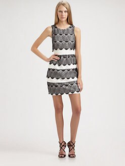 BCBGMAXAZRIA - Lorenna Lace Tulip Dress