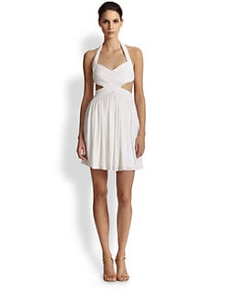 BCBGMAXAZRIA - Shea Cutout Halter Dress