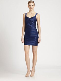BCBGMAXAZRIA - Satin Bandage Dress