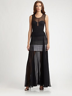 BCBGMAXAZRIA - Alai Chiffon Overlay Gown