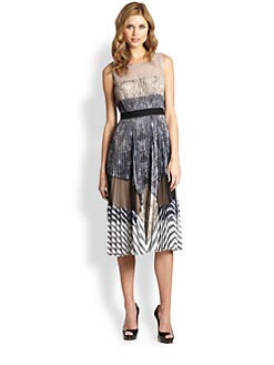 BCBGMAXAZRIA - Audrina Printed Pleat Dress