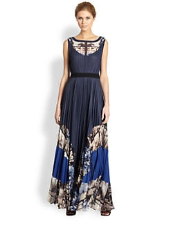 BCBGMAXAZRIA - Charlotte Pleated Maxi Dress