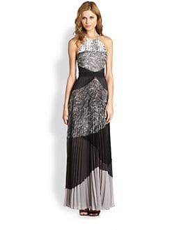 BCBGMAXAZRIA - Clarissa Pleated Halter Dress