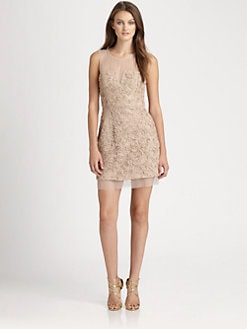 BCBGMAXAZRIA - Abigail Ribbon Embroidery Dress