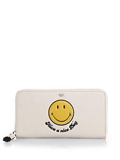 Anya Hindmarch - Smiley Zip Wallet