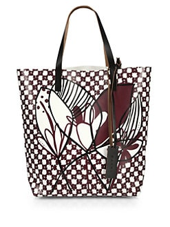 Marni - Floral Faux-Leather Tote