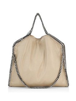 Stella McCartney - Shaggy Deer Falabella Foldover Small Tote