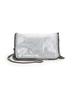 Stella McCartney - Falabella Shiny Textured Crossbody Chain Clutch