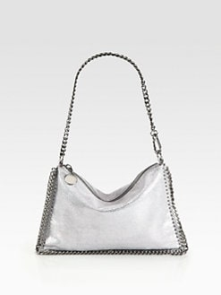 Stella McCartney - Textured Metallic Convertible Clutch