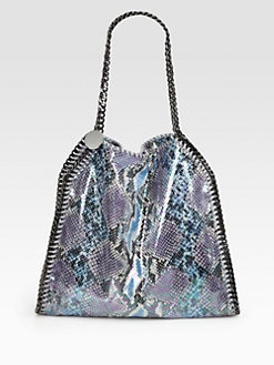 Stella McCartney - Falabella Python Print Shoulder Bag
