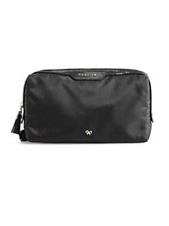 Anya Hindmarch - Patent Leather-Trim Nylon Cosmetic Bag
