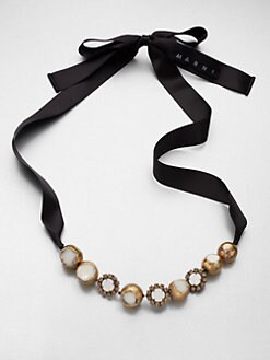 Marni - Mixed-Media Link Necklace