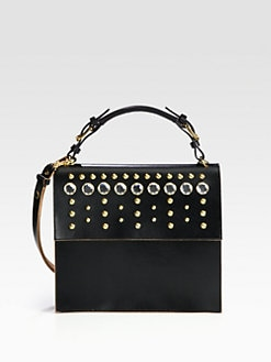 Marni - Embellished Top Handle Bag