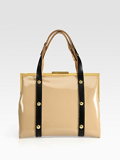 Marni - Patent Leather Colorblock Frame Satchel