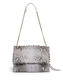 Lanvin - Sugar Medium Python Studded Shoulder Bag