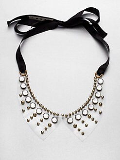 Marni - Studded Transparent Collar Necklace