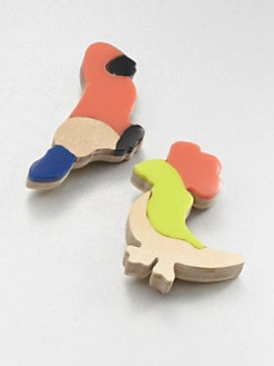 Marni - Resin & Cardboard Animal Brooch Set