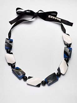 Marni - Horn & Resin Beaded Necklace