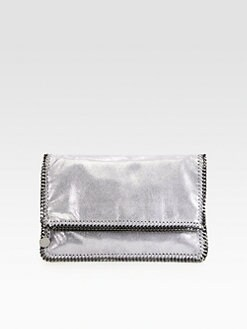 Stella McCartney - Large Shiny Foldover Clutch