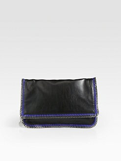 Stella McCartney - Faux Leather Fold-Over Chain Clutch