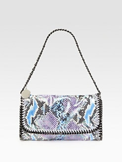 Stella McCartney - Iridescent Python Print Convertible Clutch