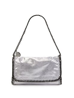 Stella McCartney - Shiny Dotted Baby Bella Shoulder Bag