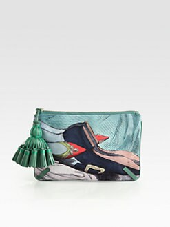 Anya Hindmarch - Courtney Valentine-Print Canvas Clutch