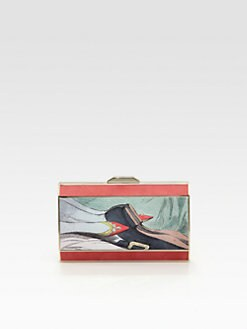 Anya Hindmarch - Duchess Valentine-Print Satin Clutch