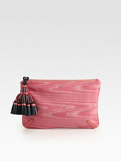 Anya Hindmarch - Courtney Moiré-Print Canvas Clutch