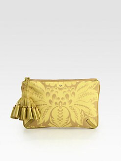 Anya Hindmarch - Courtney Damask-Print Canvas Clutch