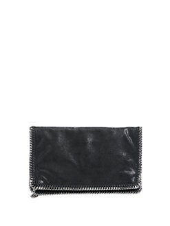 Stella McCartney - Structured Shaggy Deer Clutch