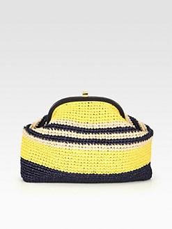 Marni - Croquet Raffia Clutch