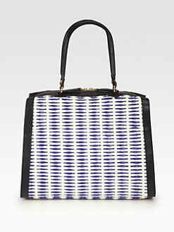 Marni - Woven Leather & Raffia Shoulder Bag
