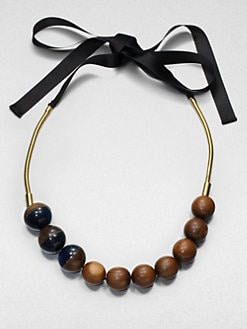 Marni - Wooden Bead Necklace