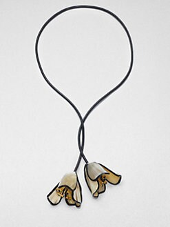 Marni - Horn Floral Lariat Necklace