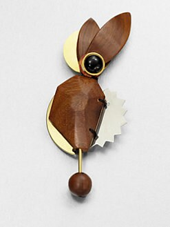 Marni - Abstract Wood Brooch