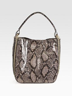 Stella McCartney - Faux Python Bucket Bag