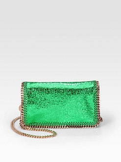 Stella McCartney - Falabella Metallic Crackle Chain Clutch