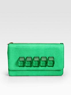 Stella McCartney - Faux Alligator Oversized Clutch