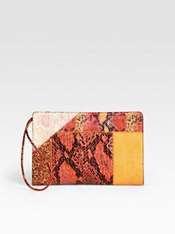 Stella McCartney - Mixed-Media Patchwork Clutch