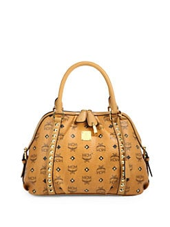 MCM - Funk Rock Canvas & Leather Boston Bag