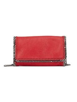 스텔라 맥카트니 Stella McCartney Falabella Faux Leather Fold-Over Chain Crossbody Bag