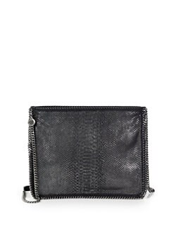 Stella McCartney - Fallabella Python-Embossed Velvet Crossbody Bag