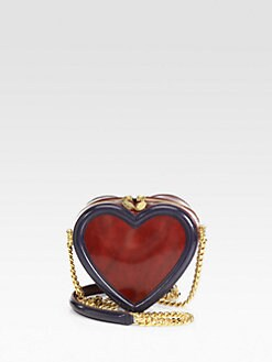 Stella McCartney - Patent Colorblock Heart Crossbody Bag
