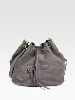 Jerome Dreyfuss - Nubuck Leather Drawstring Hobo