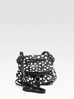 Jerome Dreyfuss - Mixed-Media Polka Dot Shoulder Bag