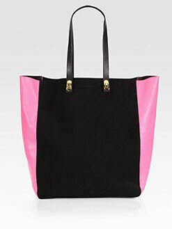 Marni - Suede & Leather Bicolor Tote